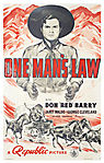 One Man's Law (1940